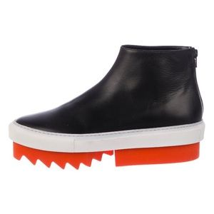 GIVENCHY Leather Platform Sneaker Ankle Boots